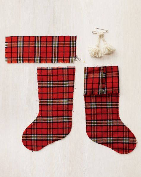 Plaid Christmas stocking tutorial