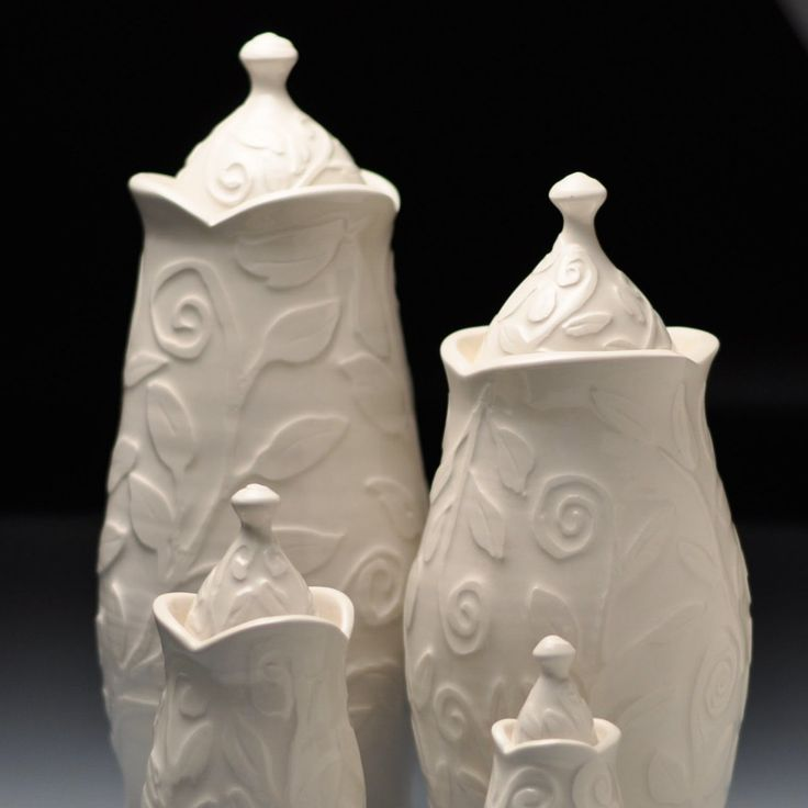 Handmade Ceramic White Pet Urn for dogs, cats and horses