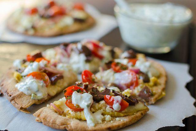 Greek Pita Pizza | PIZZA | Pinterest