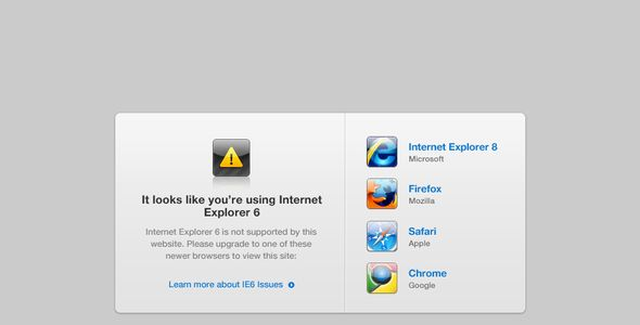 Review IE6 Alert PageThis site is will advise you where to buy