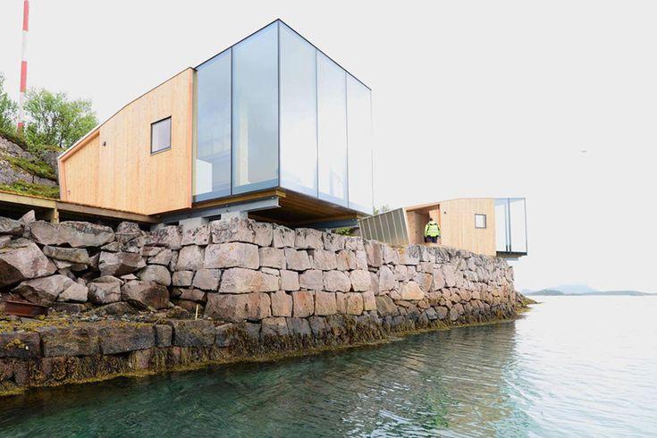 snorre stinessen arkitetkur manshausen island resort steigen norway designboom