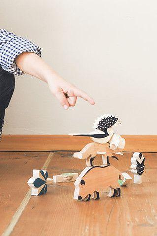 Wooden toys: The Hillside Forest Set