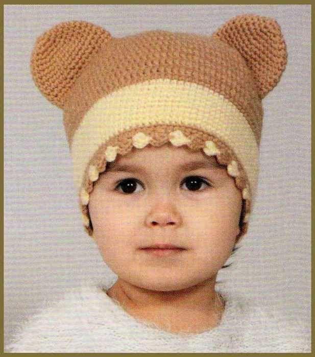 Озорные петельки: Детская шапочка с ушками