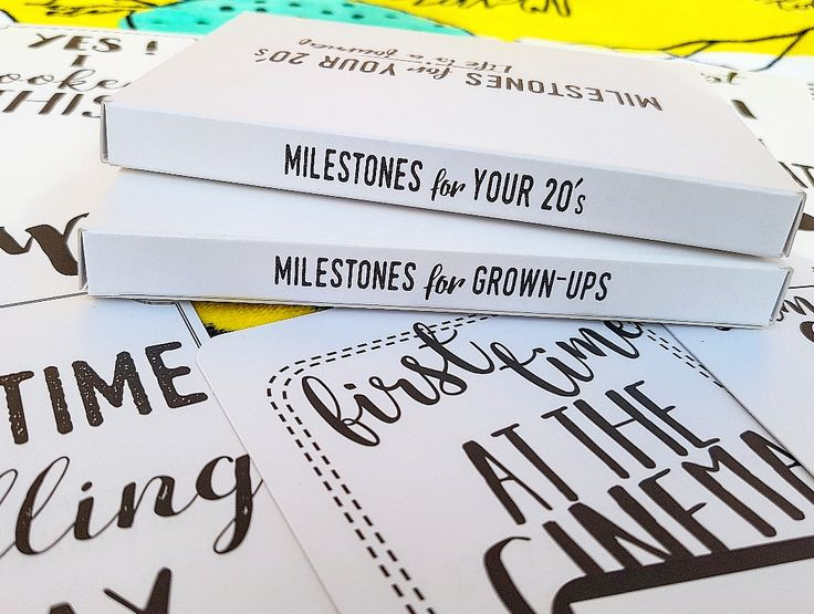Milestones for your 20s. Cards for grown-ups. Life is a journey.. share your ride!