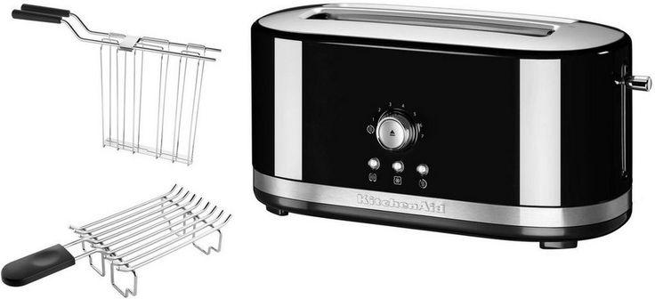KitchenAid manueller Langschlitztoaster 5KMT4116EOB, onxy schwarz für 199,00€. 3,8cm breite Langschlitze bei OTTO