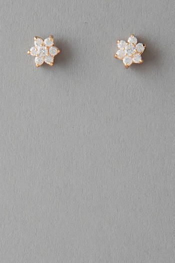 Vista Floral Crystal Stud Earrings