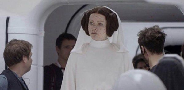 Ingvild Deila was the actress who played Princess Leia in #RogueOne (2016) with her face replaced with a CGI Carrie Fisher. #StarWarsDay