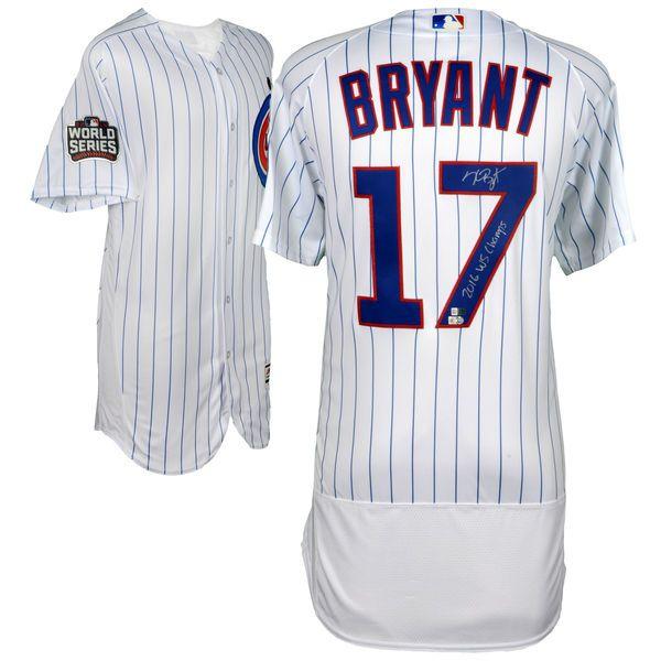 Kris Bryant Chicago Cubs Fanatics Authentic 2016 MLB World Series Champions Autographed Majestic White Authentic World Series Jersey with 2016 WS Champs Inscription - $899.99