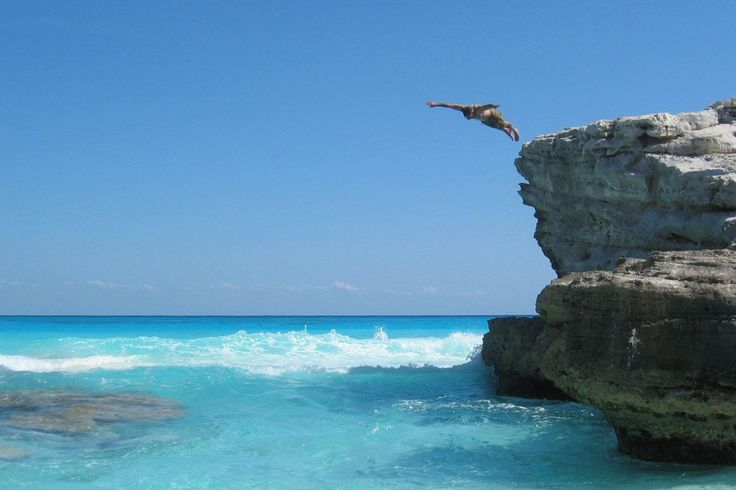 Go cliff diving