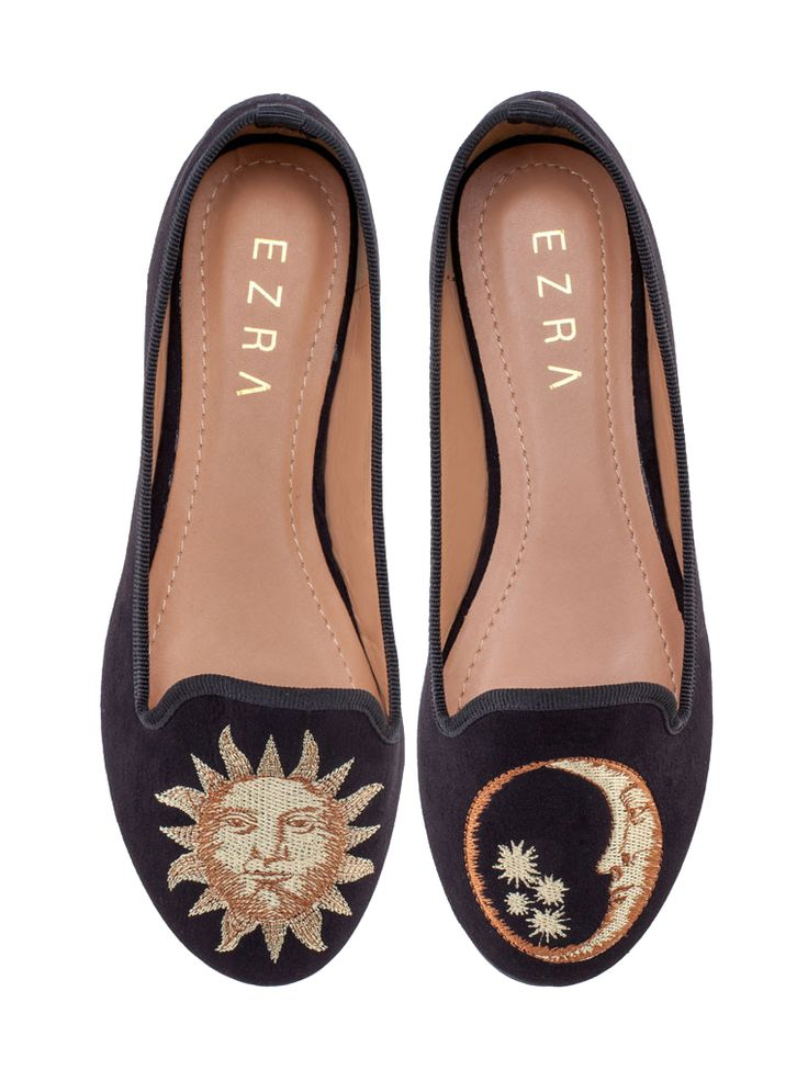 To the moon and back #121000 #shoes #flatshoes #moon #sun http://zocko.it/LDukR