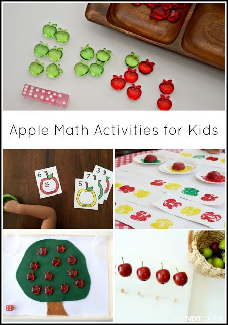Apple math activities for kids from And Next Comes L