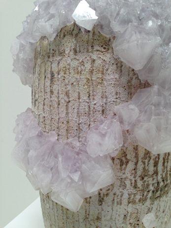 Lukas Wegwerth | Crystallization 28 (detail) | 2014, Ceramic, Crystals | Unique | Germany http://www.galleryfumi.com/Artists/Lukas-Wegwerth/
