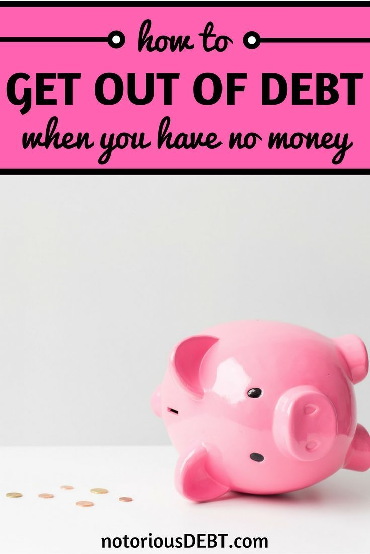It S Especially Hard To Pay Off Debt If You Have No Money Whether