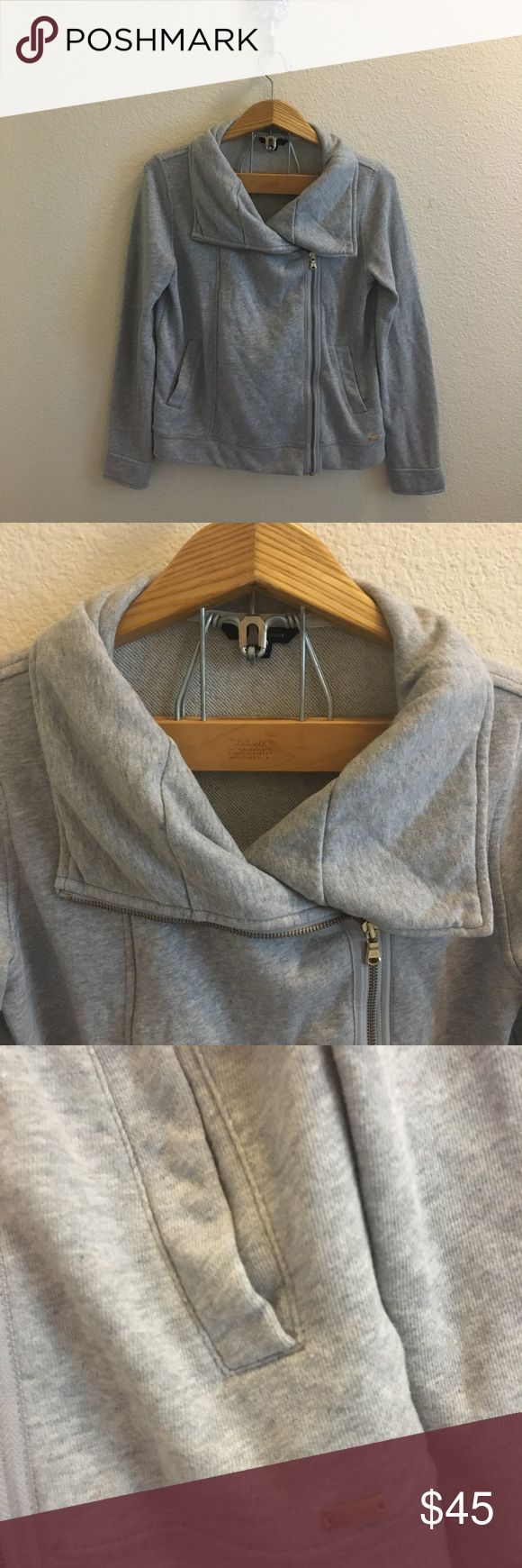 Tommy Hilfiger Gray Casual Jacket Size medium gray zip up jacket by Tommy Hilfiger. Has buttons on the sleeves. Cute fold over collar. Solid gray with gold hardware. By TH. No flaws. I ship daily - excluding Sundays and holidays - and I store items in a smoke free, pet free environment. Open to offers; bundles discounted! Tommy Hilfiger Jackets & Coats