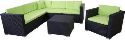 heute-wohnen Poly-Rattan-Garnitur ROM Basic, Sofa Sessel Lounge-Set, Alu Jetzt bestellen unter: https://moebel.ladendirekt.de/garten/gartenmoebel/loungemoebel-garten/?uid=f1babb83-dae5-5a49-8007-5284533f6bf8&utm_source=pinterest&utm_medium=pin&utm_campaign=boards #loungemoebelgarten #garten #gartenmoebel