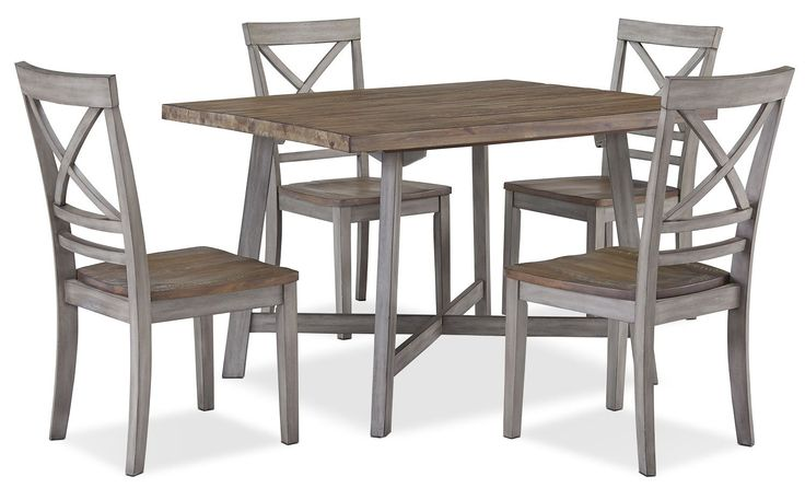 Amelia 5 Piece Dining Package Grey Dining Set Solid Wood