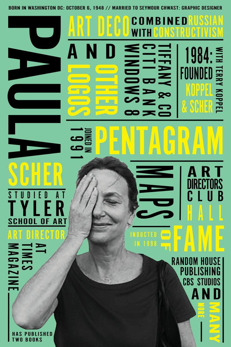 Paula Scher__graphic designer                                                                                                                                                                                 More