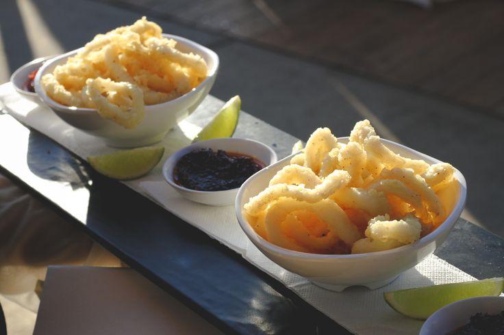 Chilli salted calamari, Thai chilli jam, lime