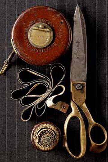 vintage scissors and sewing supplies
