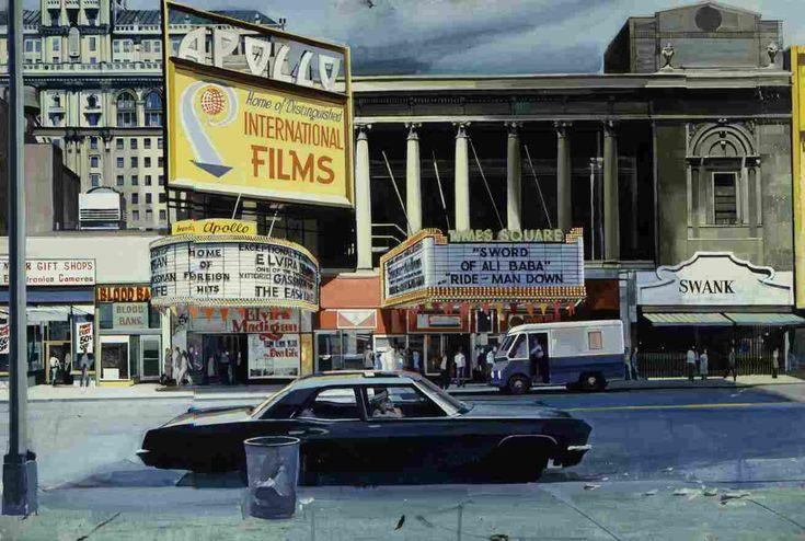Richard Estes: Times Square New York City early 1970s via http://www.moderndesign.org/2010/05/art-by-richard-estes.html