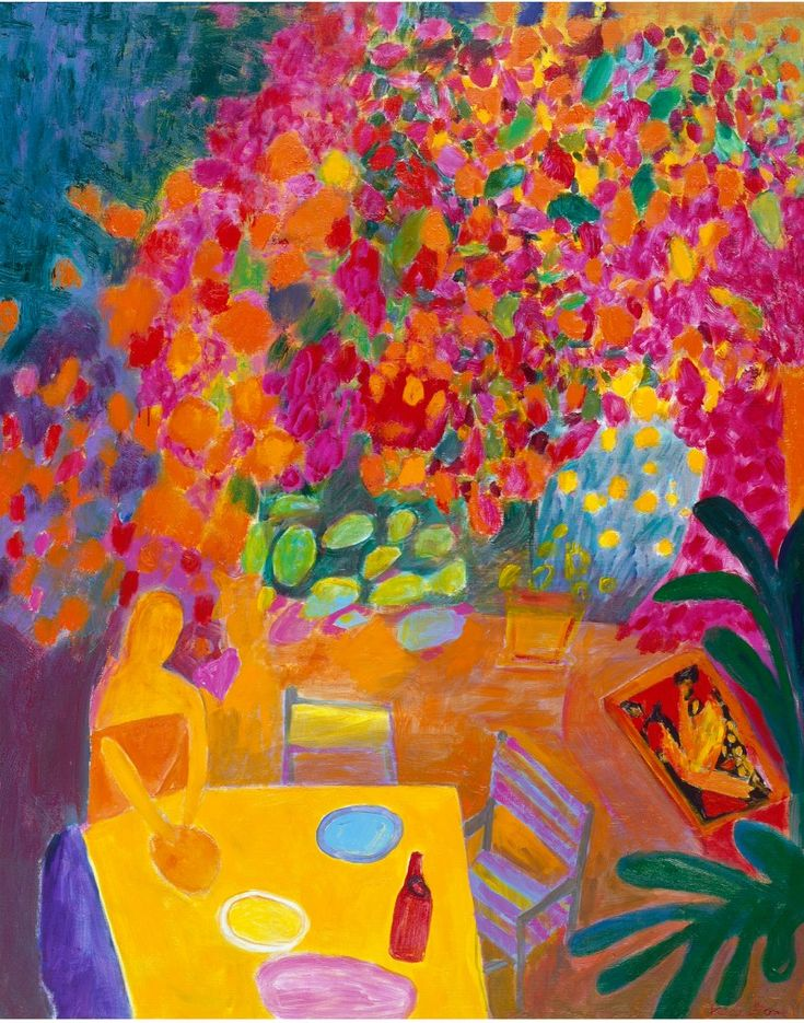 Ken Done's 'Bougainvillea barbecue', 2000.