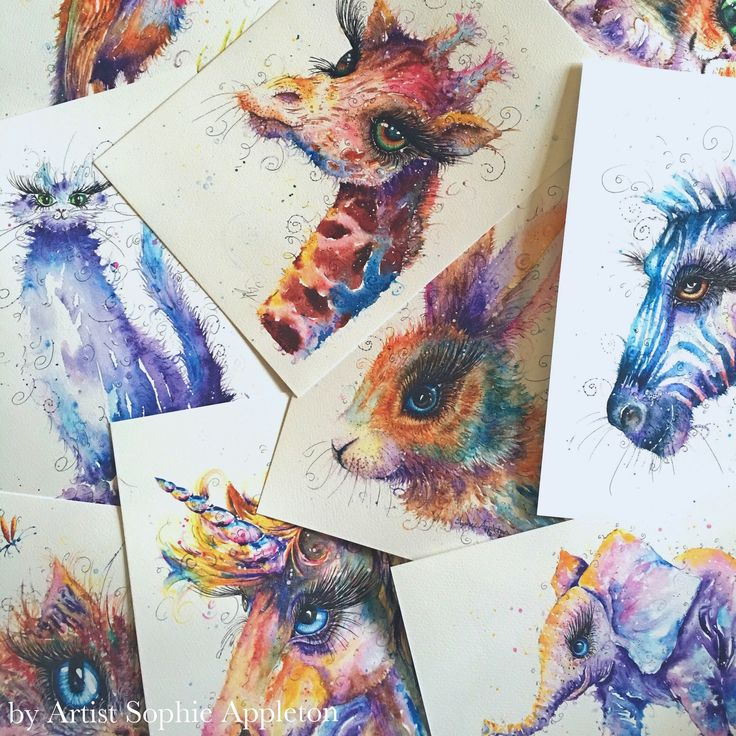 Animal Art size A4 Watercolour Painting printed on watercolor paper, each is hand signed by Sophie Appleton by CountrySwirls on Etsy https://www.etsy.com/uk/listing/581725635/animal-art-size-a4-watercolour-painting