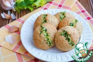 Рецепт: Овсяные булочки с чесноком и петрушкой
