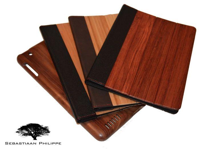 Onze collectie Houten Cases voor de iPad 2,3,4/Air en Mini... handgemaakt, makkelijk in gebruik en 100% van hout.  Wij hebben Click-Cases en Flip-Covers gemaakt van Walnotenhout, Bamboe en Kersenhout.  Het perfecte cadeau om indruk mee te maken!  Kijk snel op www.sebastiaanphilippe.nl voor onze complete collectie handgemaakte houten producten.