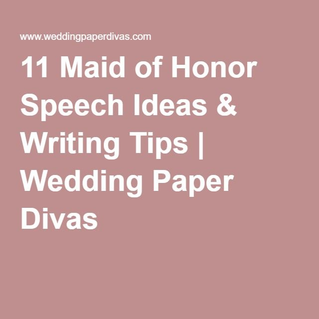 Need help writing maid of honor speech
