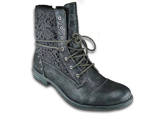 Damen Schuhe Stiefel designer Keilabsatz Wedges Boots 6298 Grau 40