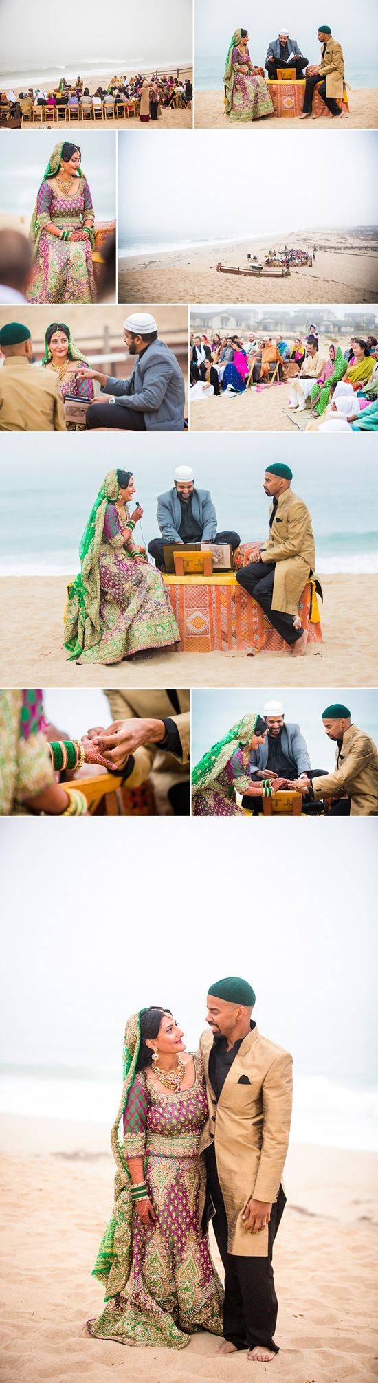 muslim wedding ceremony on the beach