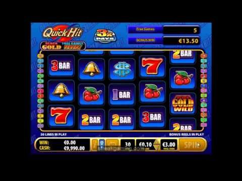 Quick Hit Black Gold Fever Video Slot Review At MoneyGaming Casino (Bally)