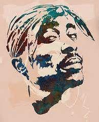 Tupac Art - 2pac Tupac Shakur stylised pop art poster by Kim Wang