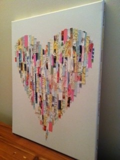 What to do with wedding cards you received... Dont put them in a box, make them a work of art!...