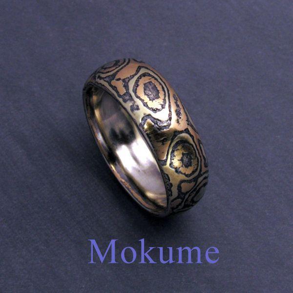 mokume ring gold