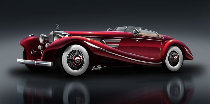 Classic, beautiful cars | 35) 1936 Mercedes Benz 500K