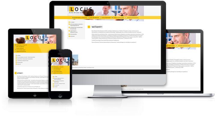 Responsywna strona internetowa biura wyceny nieruchomości Locus zaprojektowana i wykonana przez WiWi #responsive #design #webdesign #inspiration #Responsive #Web #layout
