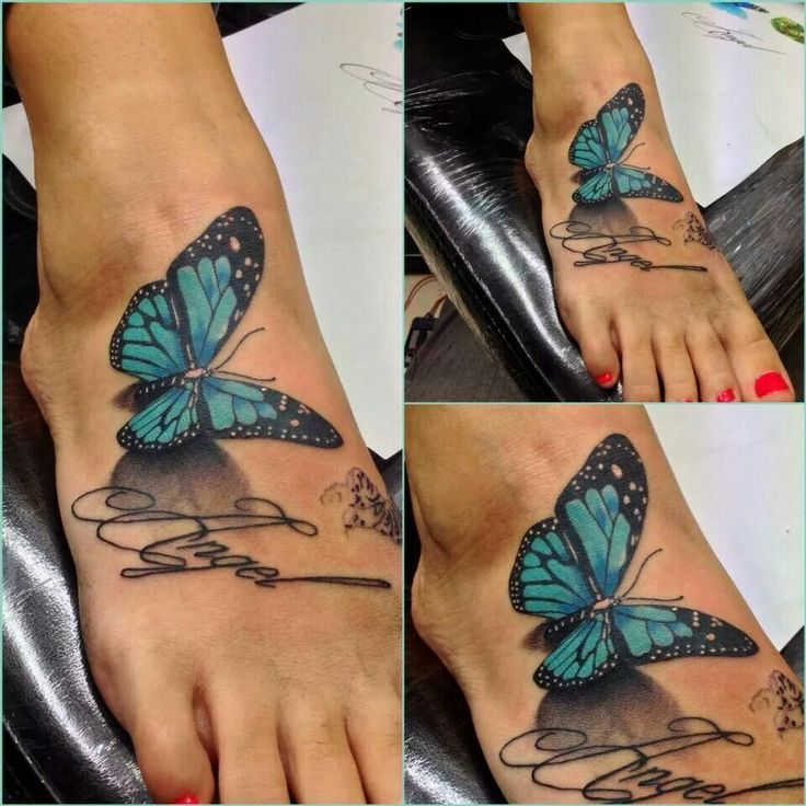 Butterfly tattoos designs on the foot