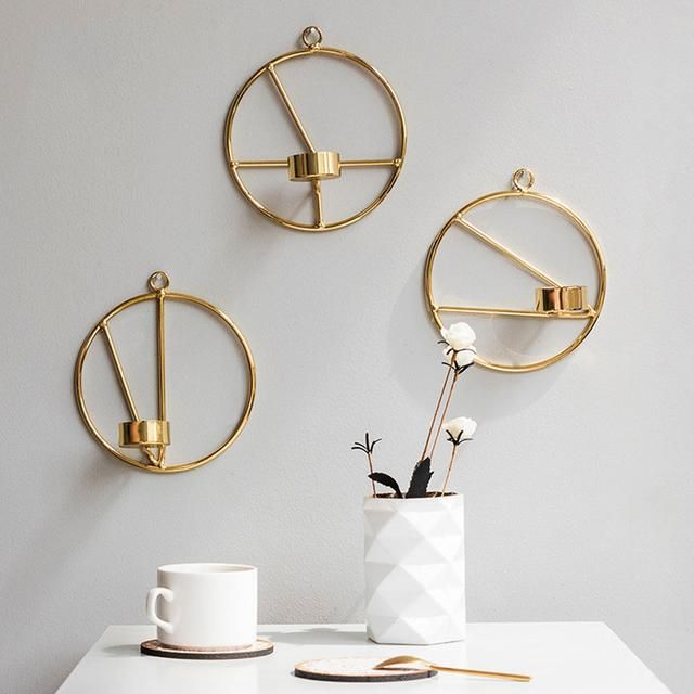 Geometric Wall Mount Candle Stick In 2020 Wall Mounted Candle Holders Wall Candle Holders Metal Candle Holders