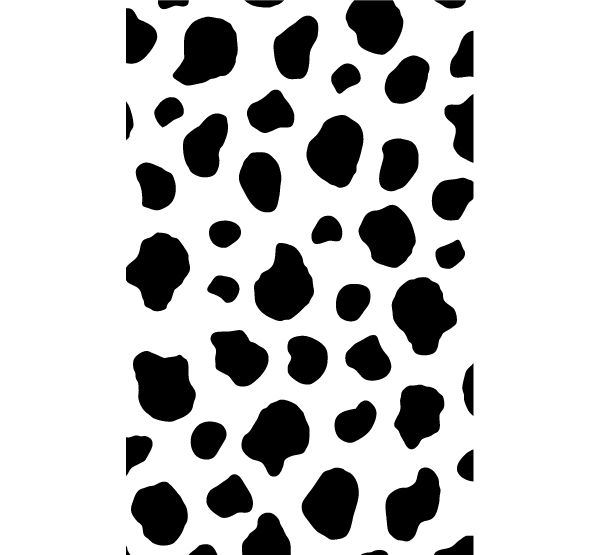 Cow Print Vector Graphic