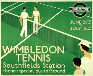 Vintage London Underground Posters @ Southfields station for Wimbledon Tennis tournament