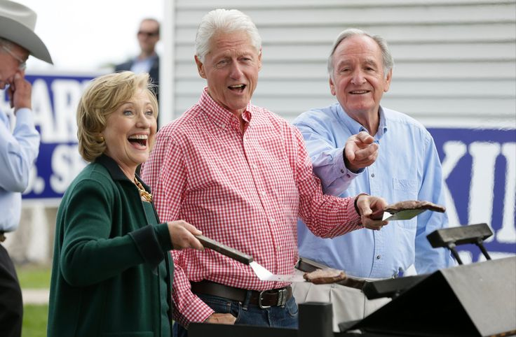 Bill Clinton Health | Hillary Rodham Clinton and Bill Clinton and Senator Tom Harkin work ...