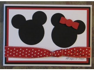 Stampin' With Sue: Disney - Mickey and Minnie Punch Art Card Stampin' Up! Punch Art Disney