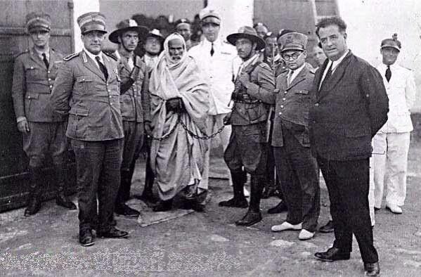 """Trablusgarb'ın #Libya bağımsızlık kahramanı Ömer Muhtar'ın İtalyanlar tarafından idamının yıldönümü. Ruhuna Fatiha. Ömer Muhtar 83 yıl önce idam sehpasına giderken.... son sözleri :""""Celladımdan daha uzun yaşayacağım"""""""