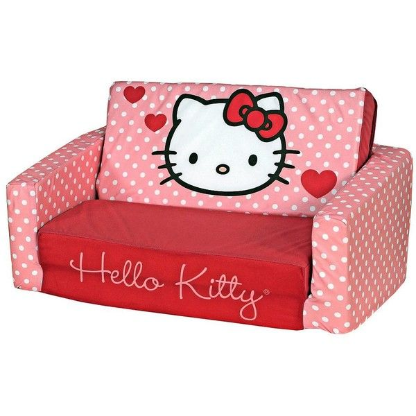 Cheap Sectional Sofas Hello Kitty Kids Sleeper Sofa W liked on Polyvore