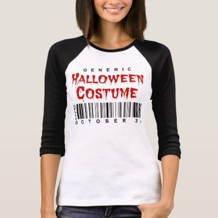 Barcode Generic Halloween Costume T-Shirt - click/tap to personalize and buy