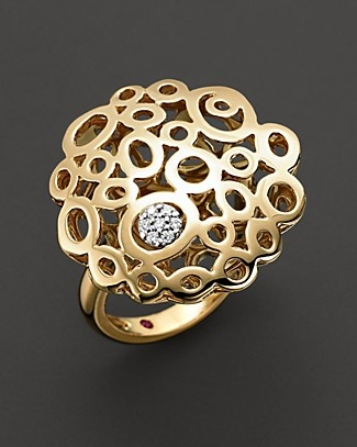"Roberto Coin 18 Kt. Yellow Gold ""Mauresque"" Diamond Ring"