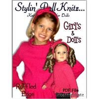 Girls and Dolls Sweaters and headbands - via @Craftsy