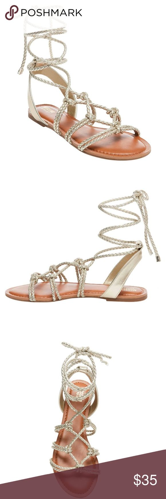Women's  Gladiator Sandals NEW 💜 The braided ankle strap brings a touch of boho to these fun and fashion-forward women's sandals. Shoes Sandals