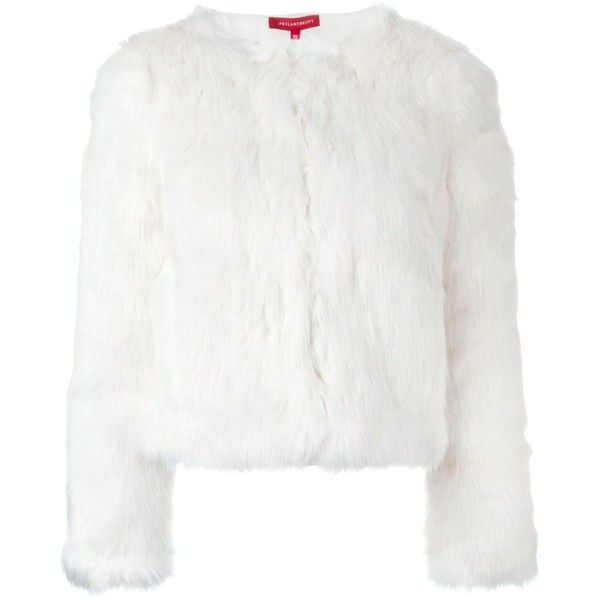 Philanthropy Faux Fur Cropped Jacket (3 680 SEK) ❤ liked on Polyvore featuring outerwear, jackets, fur, white, white jacket, faux fur cropped jacket, white cropped jacket, faux fur jacket and cropped jacket